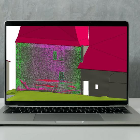 scan 3d batiments innovation revit recoba